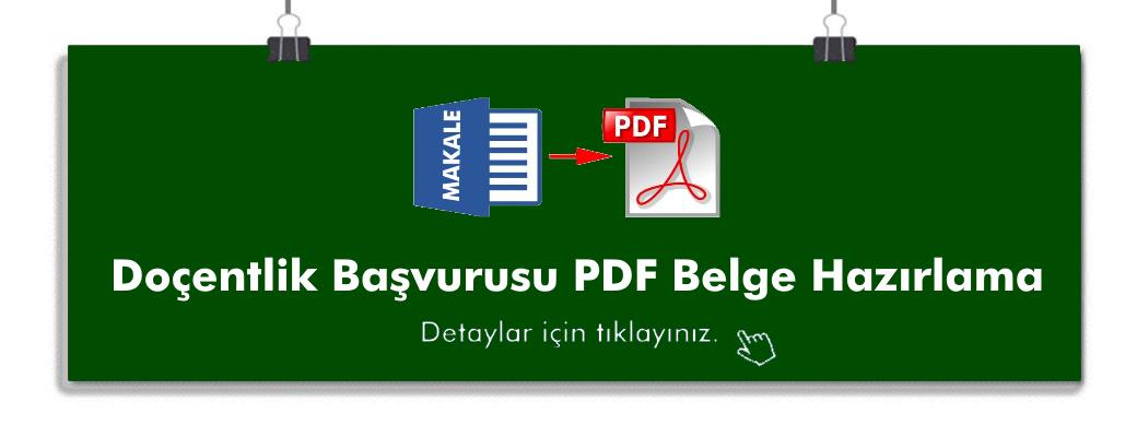 PDF hazırlama