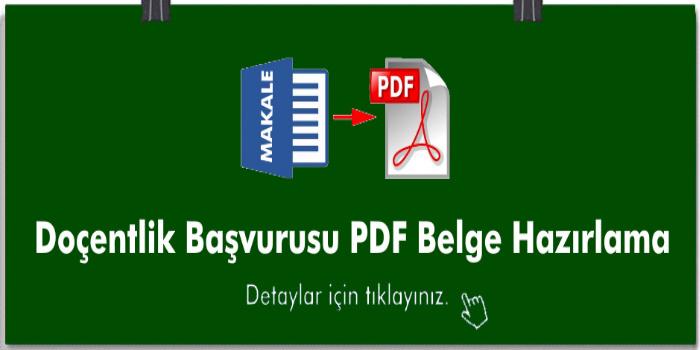 Doçentlik Başvurusu PDF Belge Hazırlama